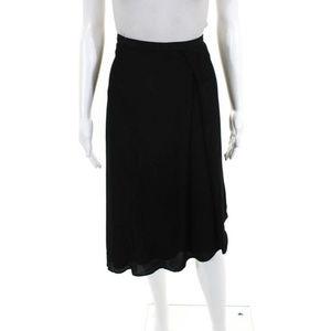 EUC TY-LR Black Asymmetric Hem Skirt Size S